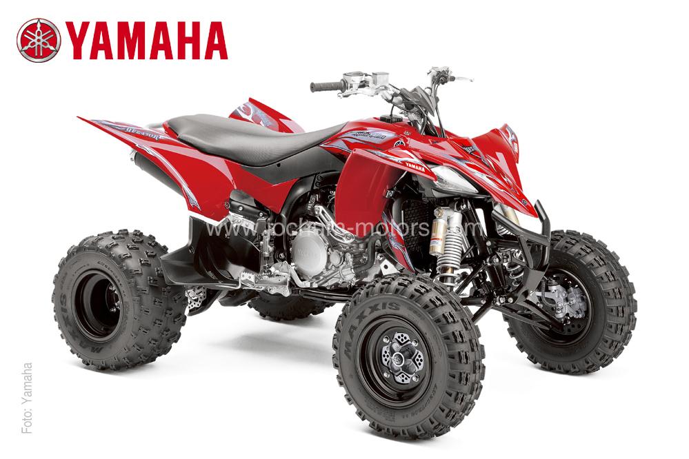 Das 2014er Modell YFZ 450R von Yamaha gibt es als Special Edition in der Farbe Rot. Beziehbar über den Vertragshändler Jochum-Motors