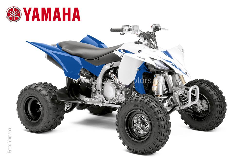 Rennsportfeeling mit dem blauen Yamaha YFZ 450R Quad beim Quadhändler Jochum-Motors erleben.